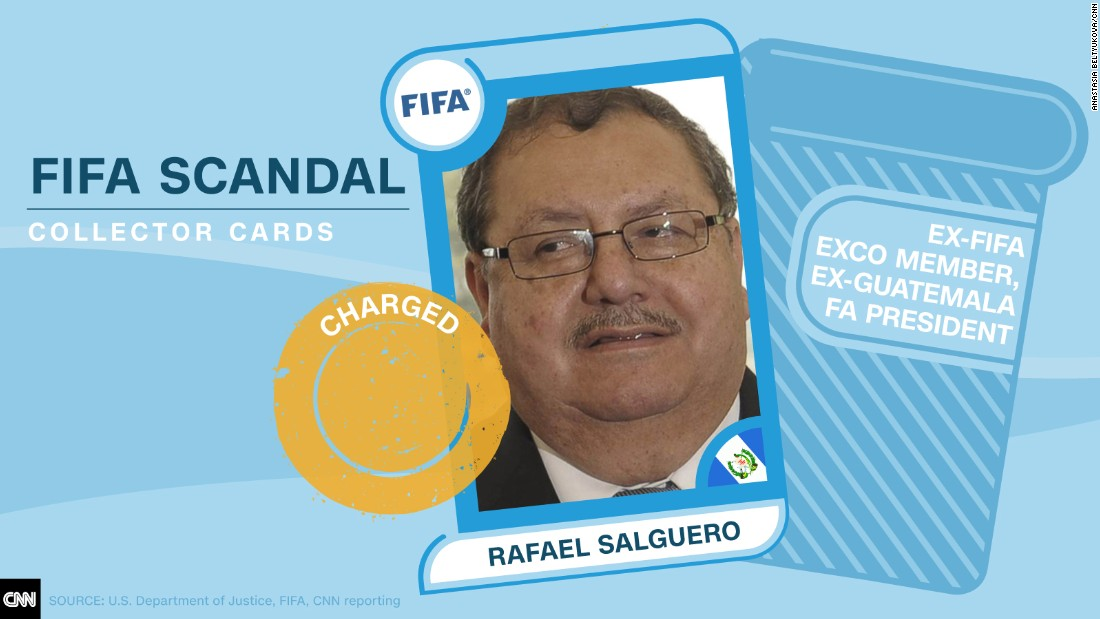 FIFA scandal collector cards Salguero