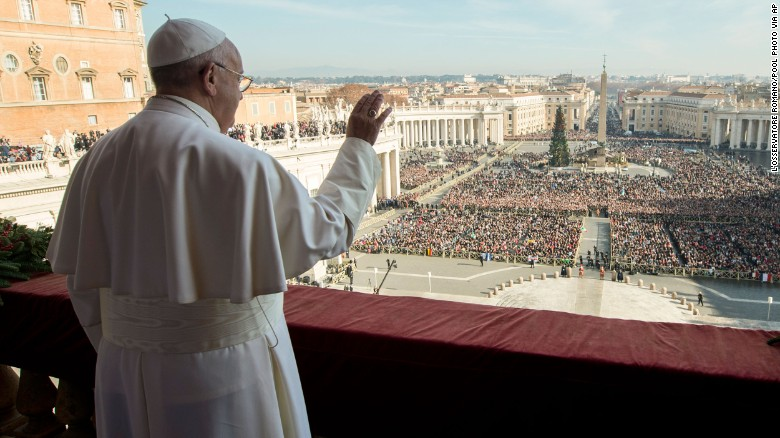 Pope Francis makes plea for world peace on Christmas