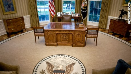 WASHINGTON  - AUGUST 31:  The desk of U.S. President Barack Obama sits in the newly redecorated Oval Office of the White House August 31, 2010 in Washington, D.C. U.S. President Barack Obama will give his second address from Oval Office August 31, 2010 to mark the shift away from combat in the war in Iraq.  (Photo by Brendan Smialowski-Pool/Getty Images)
