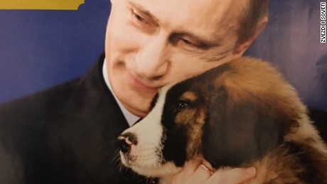 No shortage of Vladimir Putin paraphernalia in Russia