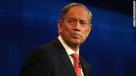 George Pataki looks on during the CNBC Republican Presidential Debate on October 28, 2015, in Boulder, Colorado.