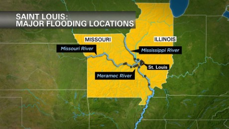Mighty rivers are cresting this week, at some points at historic levels, as Missouri copes with widespread floods.