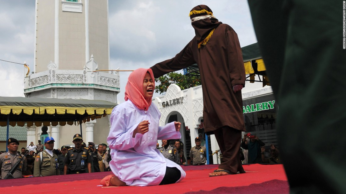 Indonesian couple caned for violating Sharia law, police official says