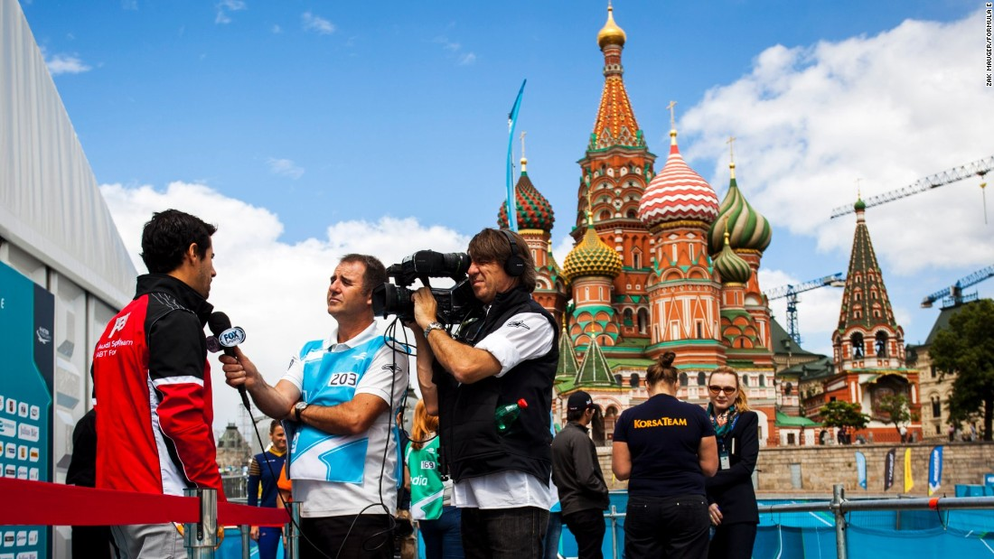 "Formula E races -- called ePrix -- take place in the heart of city centers around the globe, including just outside the famous domes of the Kremlin in Russia's capital Moscow.  ""It's easy to access the pit lane, the paddock and to nearly touch the cars,"" says Buemi."