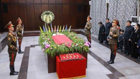 Kim Yang Gon was given a state funeral and hailed as a faithful and revolutionary soldier.