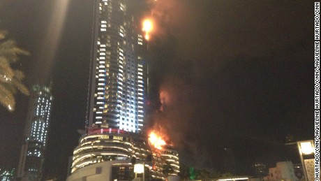 A fire broke at the high-end Address hotel in downtown Dubai on the night of Thursday, December 31, 2015