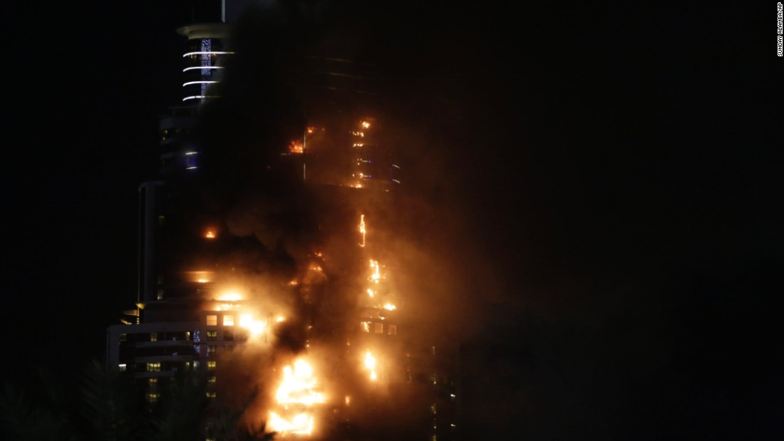 The fire broke out as governments around the world were on high alert for possible terrorist attacks tied to New Year's Eve celebrations, but there was no immediate indication that terrorism was to blame for the blaze.