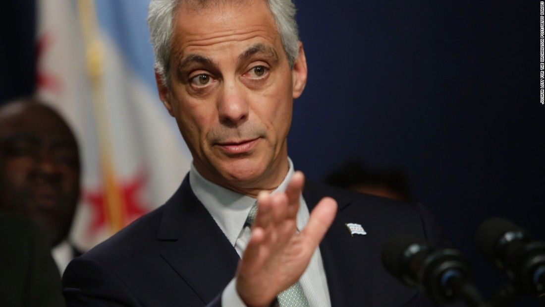 "Chicago Mayor Rahm Emanuel speaks during a news conference at City Hall on Wednesday, December 30. Emanuel returned home early from a family trip to address<a href=""http://www.cnn.com/2015/12/29/us/chicago-police-shooting-legrier-father-interview/"" target=""_blank""> the recent police shootings</a> that killed Bettie Jones and Quintonio LeGrier."