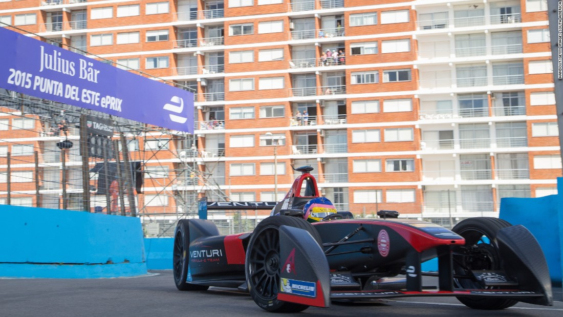Villeneuve, who drives for the Venturi team, is the first F1 world champion to race in Formula E.