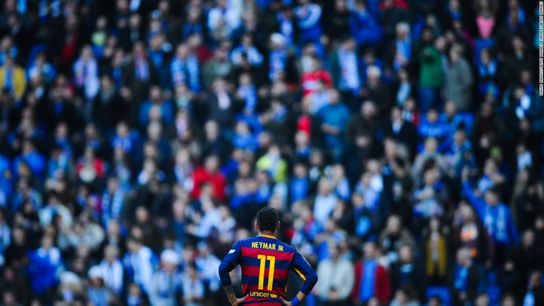 Neymar was another of Barca's stars that struggled to get behind a determined Espanyol rearguard.
