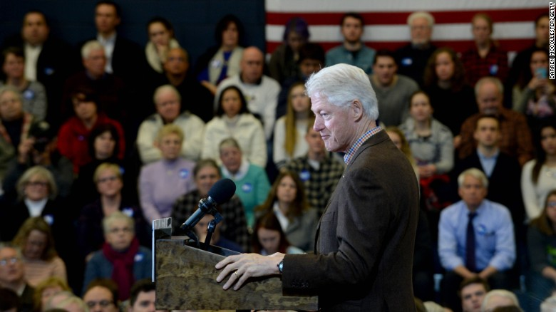Bill Clinton makes 2016 debut
