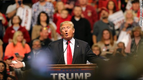 Donald Trump speaks at the Mississippi Coast Coliseum on January 2, 2016, in Biloxi, Mississippi.