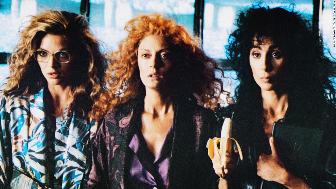"1987's ""The Witches of Eastwick,"" based on the John Updike bestseller, starred Michelle Pfeiffer, Susan Sarandon and Cher as the title characters. George Miller directed."