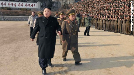 "This undated picture released from North Korea's official Korean Central News Agency (KCNA) on January 12, 2014 shows North Korean leader Kim Jong-Un (front L) inspecting the command of Korean People's Army (KPA) Unit 534.    AFP PHOTO / KCNA via KNS    REPUBLIC OF KOREA OUT   THIS PICTURE WAS MADE AVAILABLE BY A THIRD PARTY. AFP CAN NOT INDEPENDENTLY VERIFY THE AUTHENTICITY, LOCATION, DATE AND CONTENT OF THIS IMAGE. THIS PHOTO IS DISTRIBUTED EXACTLY AS RECEIVED BY AFP    ---EDITORS NOTE--- RESTRICTED TO EDITORIAL USE - MANDATORY CREDIT ""AFP PHOTO / KCNA VIA KNS"" - NO MARKETING NO ADVERTISING CAMPAIGNS - DISTRIBUTED AS A SERVICE TO CLIENTS        (Photo credit should read KNS/AFP/Getty Images)"