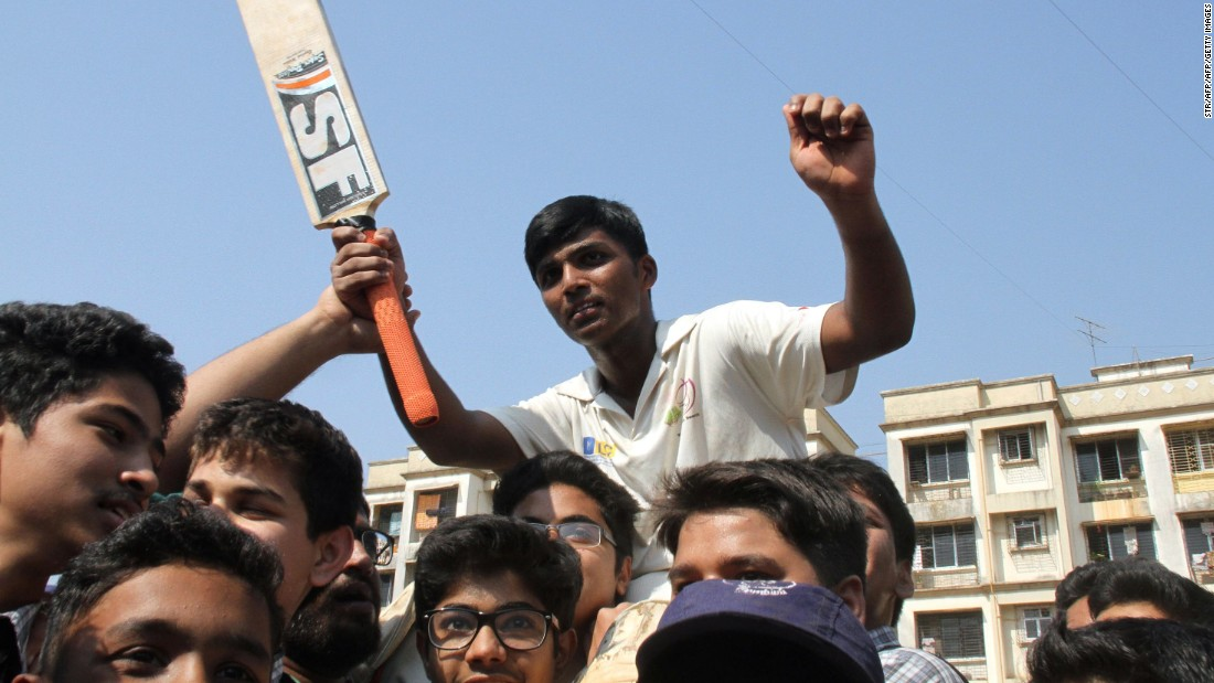 Pranav was hailed by his teammates, the world's media and India's most famous cricketing son.