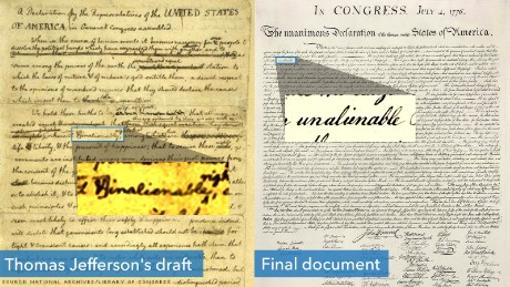 constitution language inalienable unalienable updated