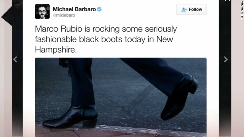 Marco Rubio mocked for wearing 'high-heeled booties'
