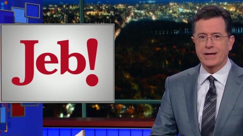 Stephen Colbert suggests new logos for Jeb Bush