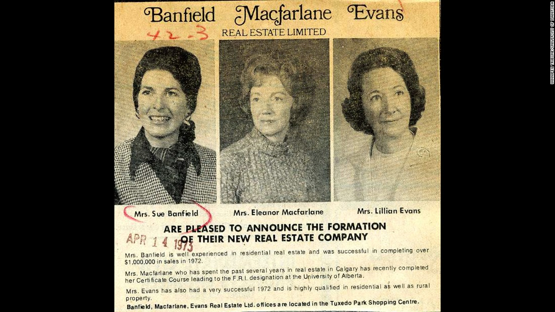 Suzie Banfield, a housewife with four children and a home economics degree, entered the cutthroat, male-dominated world of residential real estate in the early 1970s along with her sister-in-law and a friend. Specializing in Winnipeg's toniest neighborhoods, the three business partners built one of the most successful firms in the city.