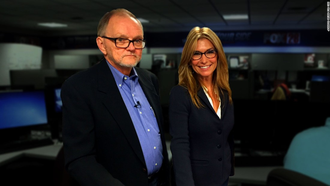 Costello says Ron Bilek, left, her former news director, was tough on her, but he taught her the ropes of television news.  <br /><br />After not seeing each other for more than 25 years, they reunited on October 1, 2015, at their old workplace, WSYX-TV, in Columbus, Ohio.