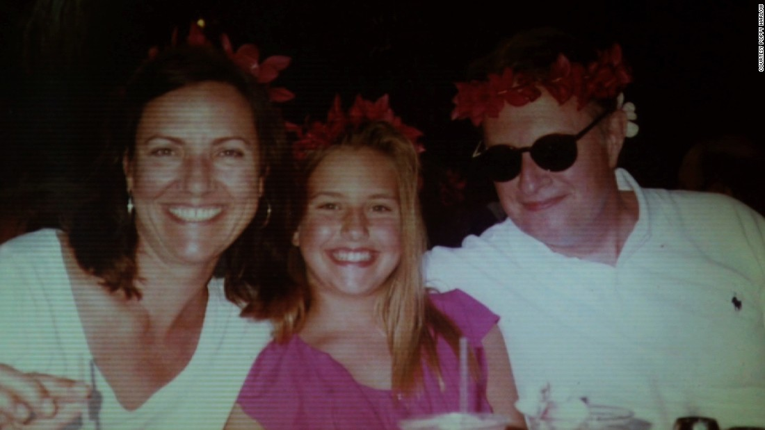 "Poppy with her mom Mary Harlow and her dad on vacation in Hawaii.  Poppy says the trip is one of her ""favorite memories as a family.""<br />"