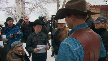 Cub reporter Monte Kingen, 11, managed to get an interview with Ryan Bundy.