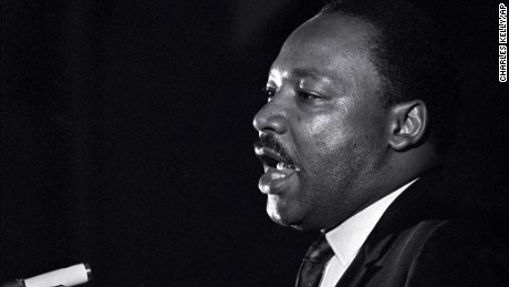 "King's eyes appeared to tear up during his ""mountaintop"" speech the night before he was assassinated."