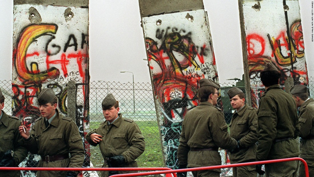 East German border guards demolish a section of the Berlin wall in order to open a new crossing point between East and West Berlin at the border line near the Potsdamer Square on November 11, 1989. Mielke was arrested and the Stasi disintegrated as furious protestors stormed its offices across the country. BFC's days as a powerhouse club were over.