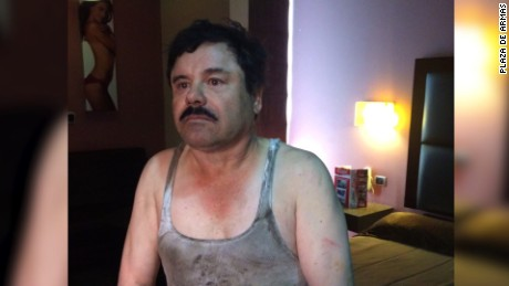 "Joaquin ""El Chapo"" Guzman photographed in filthy shirt after sewer escape"