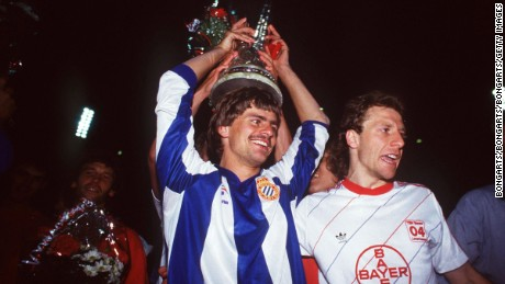 Falko Gotz won the UEFA Cup with Bayer Leverkusen in 1988.