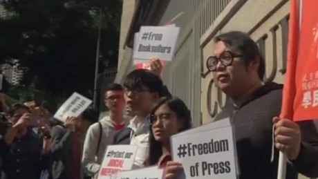 Missing booksellers lead to Hong Kong protests