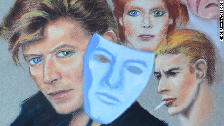 Artist Heidi Rizzi created this portrait of David Bowie in 1987 and got him to autograph it in 1990.