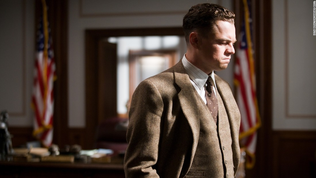 "Heavy makeup helped DiCaprio transform into FBI head J. Edgar Hoover for 2011's ""J. Edgar."""