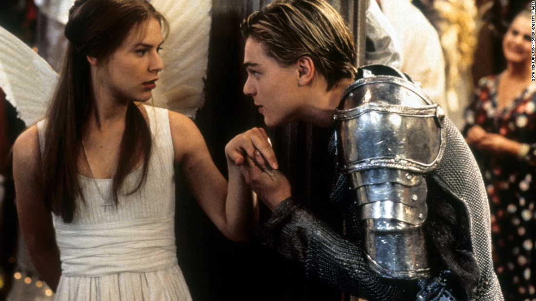 "Shakespeare got the DiCaprio treatment in ""Romeo + Juliet."" Baz Luhrmann directed the 1996 adaptation. DiCaprio was, of course, Romeo and Claire Danes his Juliet."