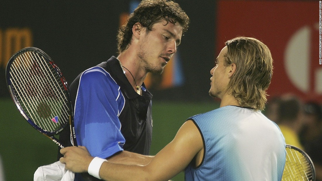 Hewitt reached his only Australian Open final in 2005 but was beaten by Marat Safin. The Russian came from behind to win 1-6 6-3 6-4 6-4.
