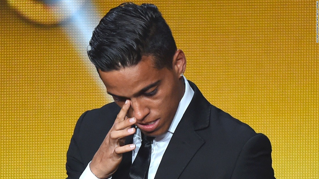 As an emotional Lloyd would do later in the evening, Brazilian striker Wendell Lira broke down in tears after winning the Puskas Award for best goal of the year. His acrobatic overhead kick beat efforts by Messi and Roma's Alessandro Florenzi.