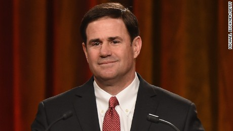 Arizona Gov. Doug Ducey speaks at the Friars Club Roast of Terry Bradshaw on January 29, 2015 in Phoenix, Arizona.