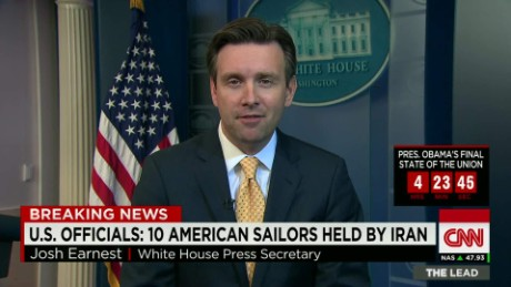 obama white house press secretary earnest on american sailors detained iran, sotu_00021803