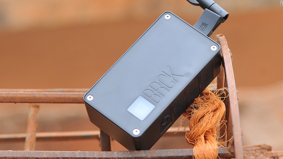 Kenyan-based tech company BRCK developed this modem made with Africa's limited connection and power in mind.