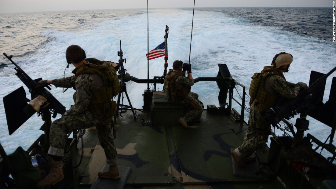 Sailors travel through the Gulf in October 2012.