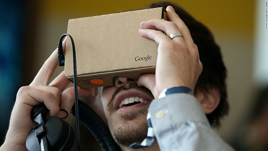 "The cheapest virtual reality option at the moment is the humble Google Cardboard. Several models are <a href=""https://www.google.com/get/cardboard/get-cardboard/"" target=""_blank"">available</a> online for as little as $15, and they work with almost any smartphone."