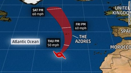 Subtropical Storm Alex is the first storm to form in Atlantic in 38 years.