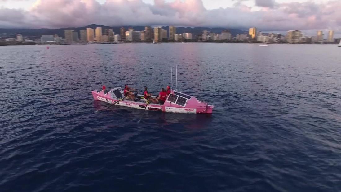 4 British women row 8,000 miles across Pacific Ocean