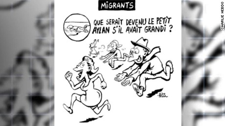 charlie hebdo cartoon on refugee crisis stirs controversy shubert _00001202