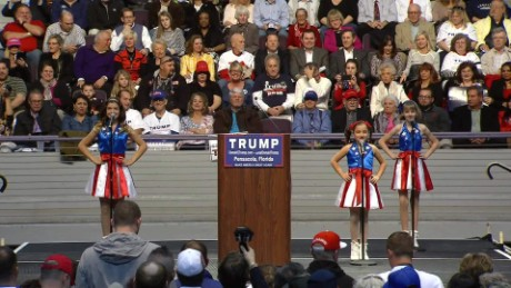 Girls' dance for Trump goes viral