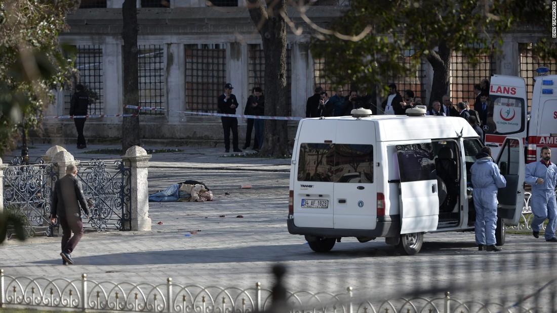 "Emergency personnel work at the scene of <a href=""http://www.cnn.com/2016/01/13/europe/turkey-istanbul-explosion/"" target=""_blank"">a suicide bombing in Istanbul's Sultanahmet Square</a> on Tuesday, January 12. Ten people were killed in the attack -- all of them Germans. Officials said the bomber belonged to the ISIS militant group."