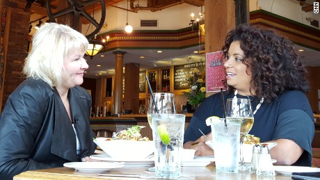 "Mayra and I at Swan's Brewpub in Victoria, B.C. in 2015 - revisiting ""the lunch"" that launched my career."