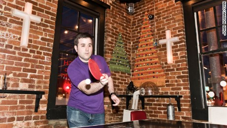 Sister Louisa's Church of the Living Room & Ping Pong Emporium is a popular destination for ping pong and church organ karaoke.
