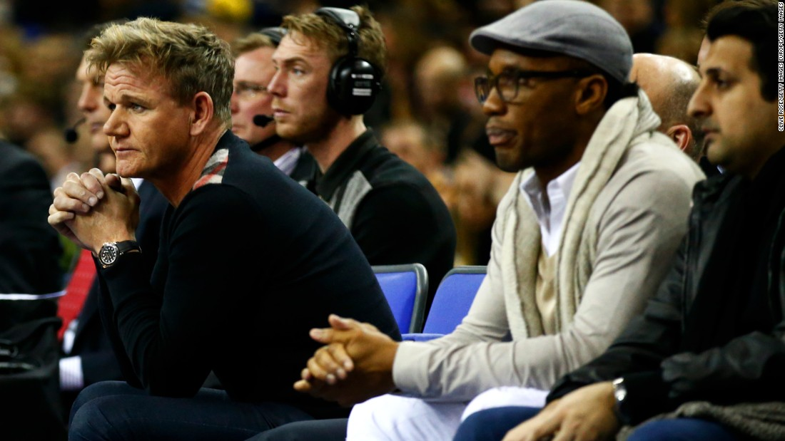 Drogba was joined courtside by celebrity chef Gordon Ramsay as the star-studded spectators lapped up the entertainment. The Toronto Raptors eventually prevailed, overcoming Orlando Magic in overtime.