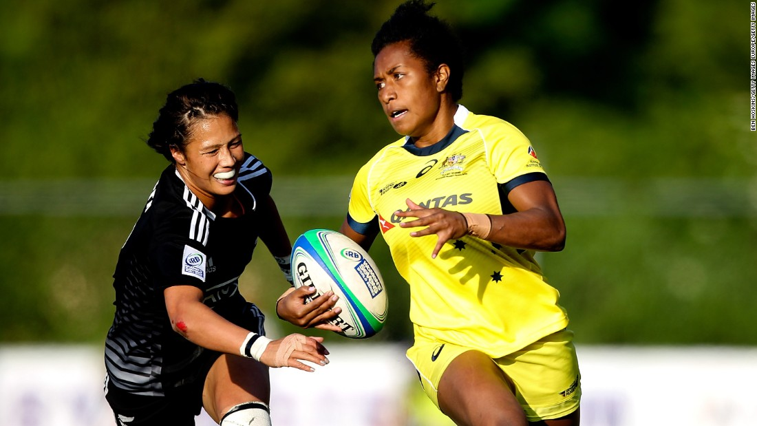 "Green made her debut for Australia's sevens team -- nicknamed the ""Pearls"" -- in 2013, having previously represented her country in athletics at age-group level."